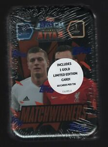 2020-21 Topps UEFA Match Attax Match Winners Sealed Display Tin with 60 Cards