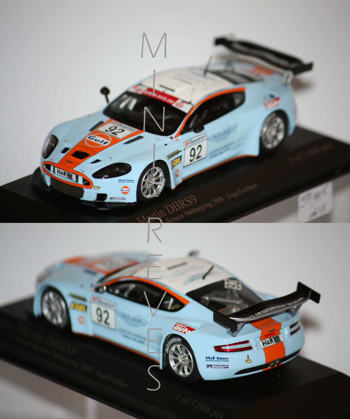contador genuino Minichamps Aston Martin Dbrs9 Nurburgring 2008 2008 2008 1 43 400081392  el estilo clásico