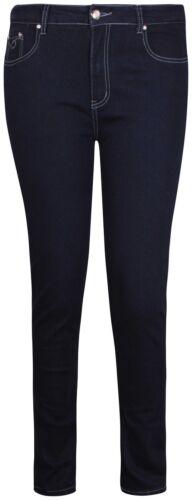 Womens Plus Size Straight Leg Ladies Sequin Stud Denim Long Jeans Trousers Pants