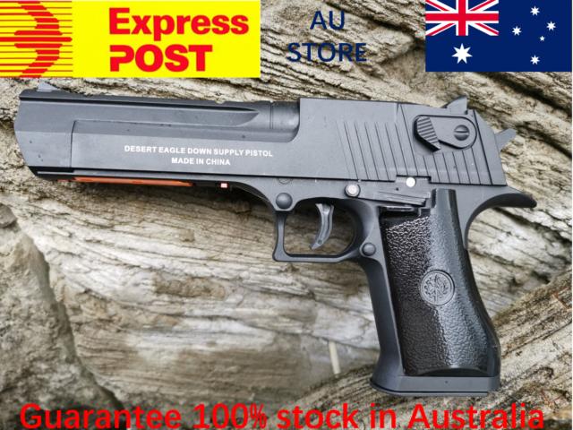 AU Store Nylon RX Desert Eagle Gel Ball Blaster Auto Mag-Fed Adult Size