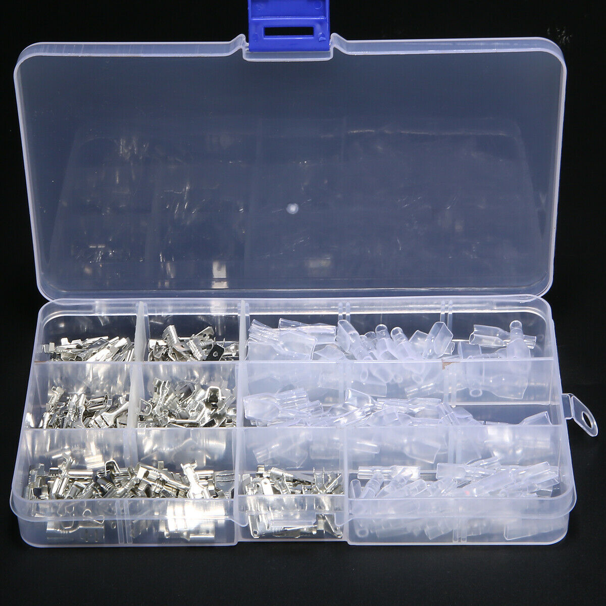270pc Assortment Terminal Kit Electrical Wire Crimp Connectors Male Female Spade 5