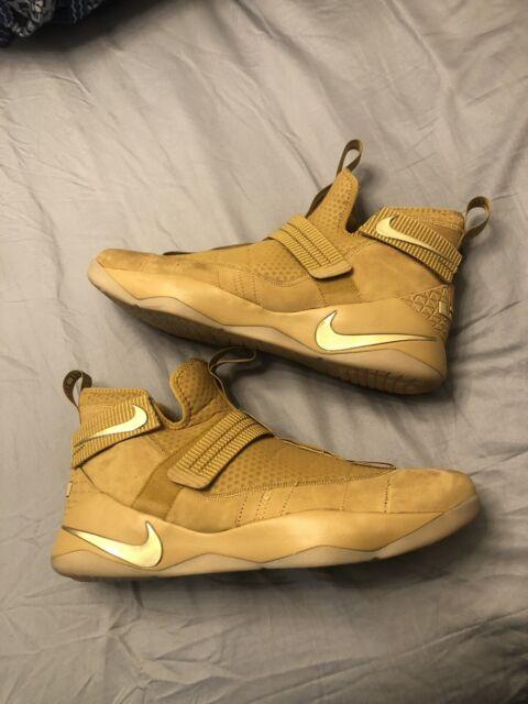 Nike lebron soldier 11 Size 15 Wheat Colorway Major Custom ...