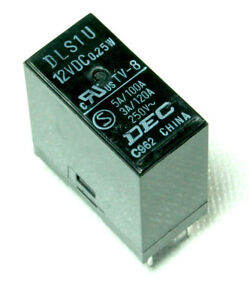 DEC DLS1U Relay 12 volt 12V DC PCB TV Mount 3A TV8 25w eBay