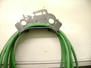 BARE METAL HOT ROD AIR,WATER AND ELECTRIC CORD HOSE HOLDER