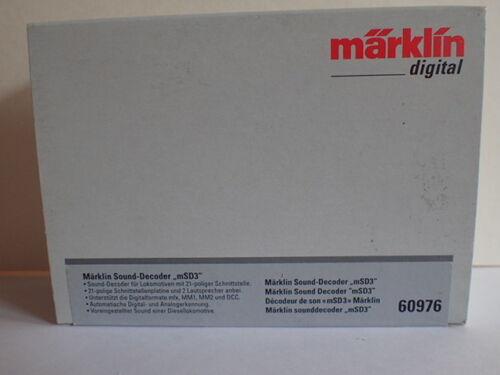 Märklin h0 60976 Sound Decoder msd3 OVP NUOVO treno 21pol NEM MFX mm1 mm2 DCC