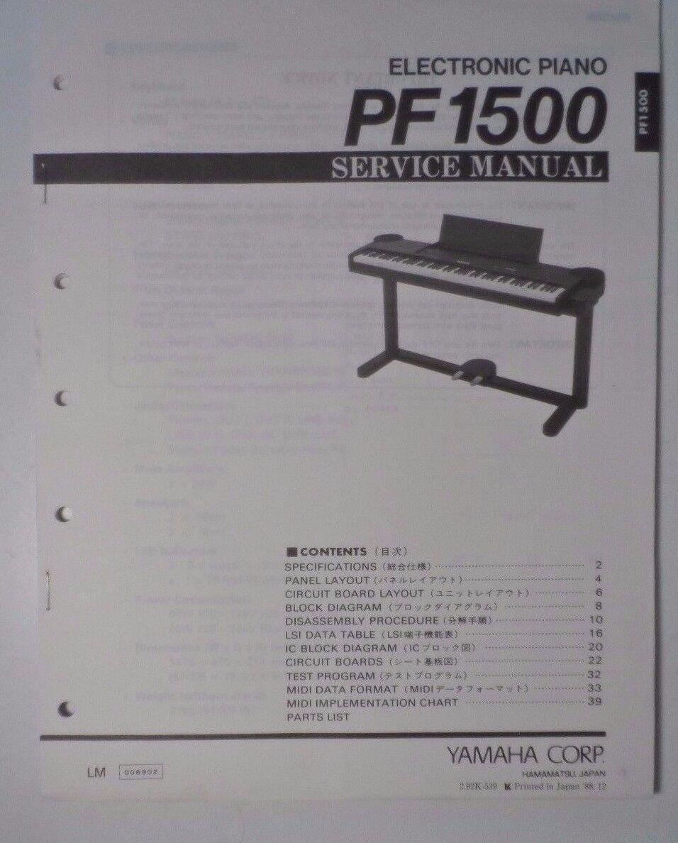 Original Yamaha Pf1500 Electronic Piano Service Manual Ebay Keyboard Wiring Diagram Norton Secured Powered By Verisign