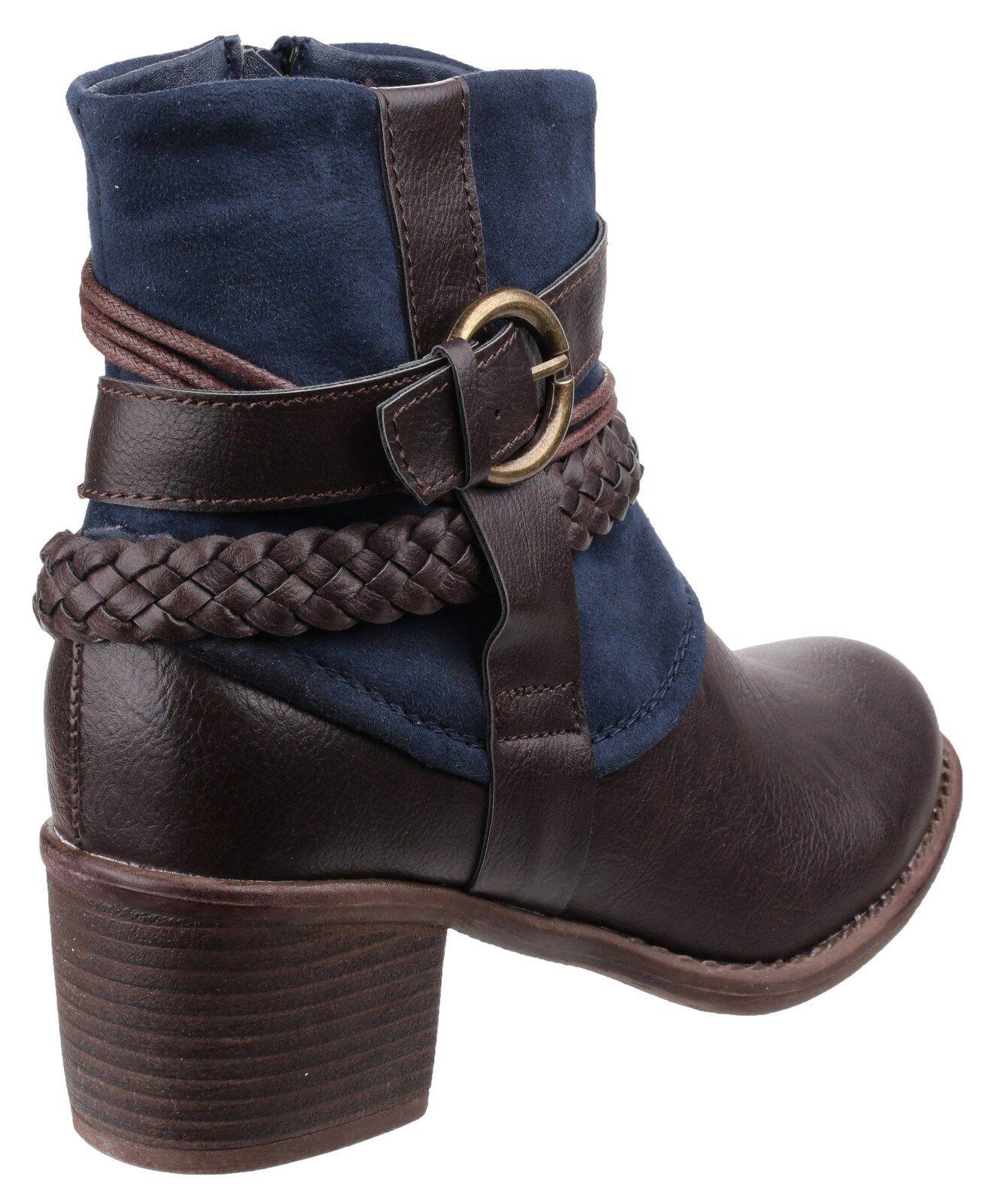 Divaz Vado Kunstwildleder Knöchel Damen Hineinschlüpfen Reißverschluss Reißverschluss Reißverschluss  | Gutes Design  15af12