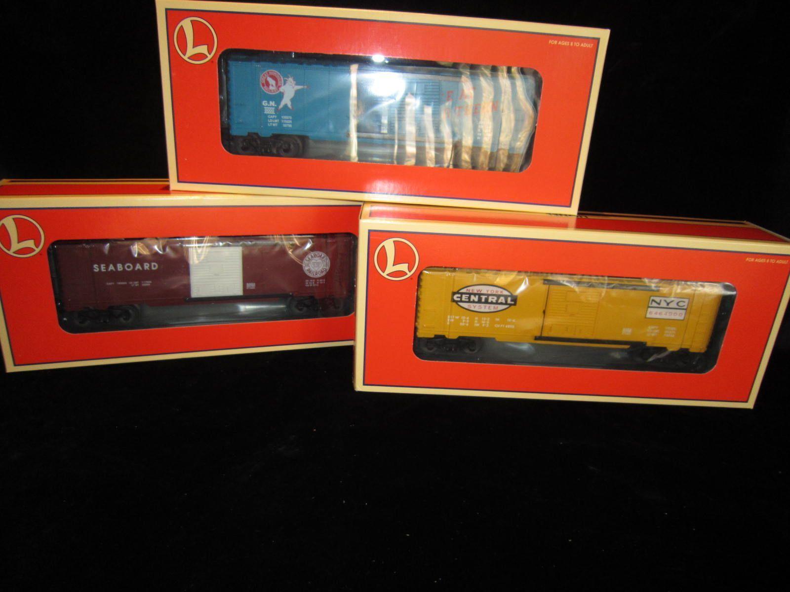 Lionel 3 Pack Set NYC, GN, COSTA  629282 Nuovo di zecca