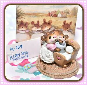 Wee-Forest-Folk-M-069-Beddy-Bye-Mousey-Pink-Mother-Blue-Baby-Mouse-M-69-WFF