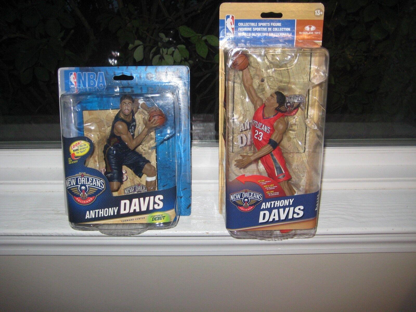 MCFARLANE NBA 24 & 27 Anthony Davis coleccionista nivel Chase variante  441 500 Lote