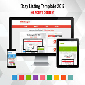 Professional EBay Listing Template Mobile Friendly Design HTTPS - Ebay website template