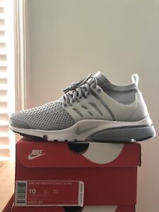finest selection 13d17 08734 Image is loading Nike-Air-Presto-Flyknit-Ultra-10-Grey-White-