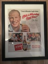 Original Vintage 1940s Retro Framed Advert (43 x 33cms) Blatz Beer Milwaukee USA