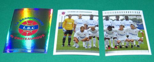 N°539-540-541BERRICHONNE CHATEAUROUX LBC D2 PANINI FOOT 2009 FOOTBALL 2008-2009