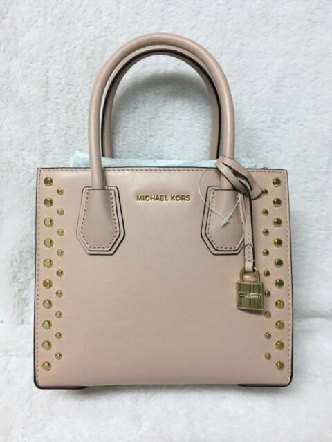 1de7fd39894760 Michael Kors Studio Mercer Medium Stud & Grommet Cross-Body Bag Color-  Ballet