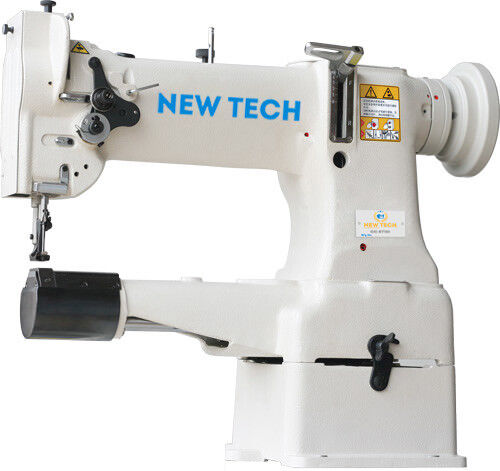 New Tech GC-8B Cylindrical Bed Compound Feed Lock-stitch Sewing Machine complete