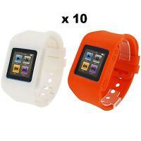 Rubz White Orange Watch Ribbon Case Cover For Apple Ipod Nano 6th Gen 10 Packs