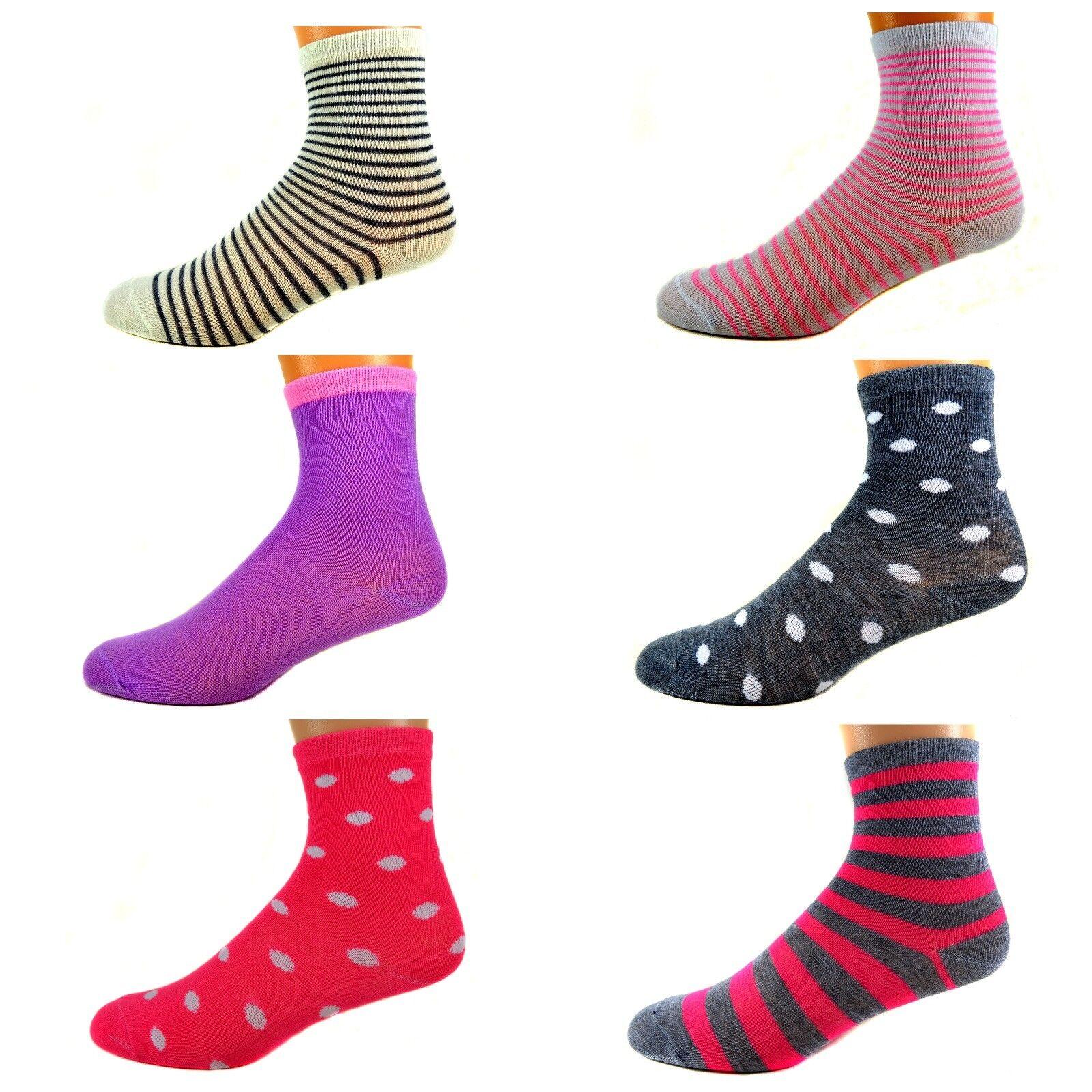 425d627155 12 Paar Ladies Mädchen Socken Kinder Strümpfe 90% Baumwolle A.S-100 ...