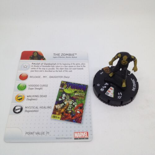 Heroclix Amazing Spider-Man set The Zombie #102 Limited Edition figure w//card!