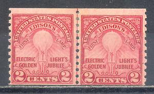 US-Stamp-L268-Scott-656-Mint-HR-OG-Nice-Vintage-Coil-Line-Pair-CV-60