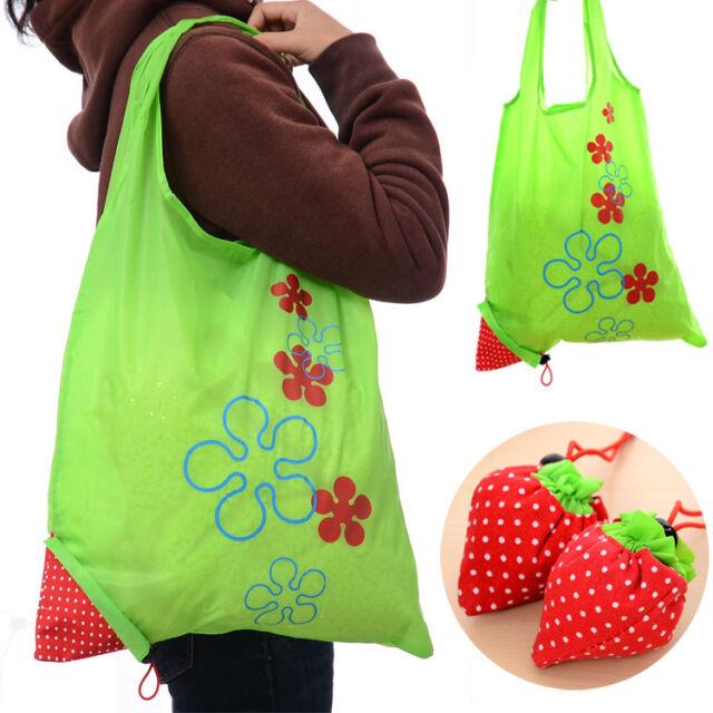 Fashion Eco Handbag Strawberry Foldable Shopping Tote Bag Reusable Bag 8 colors