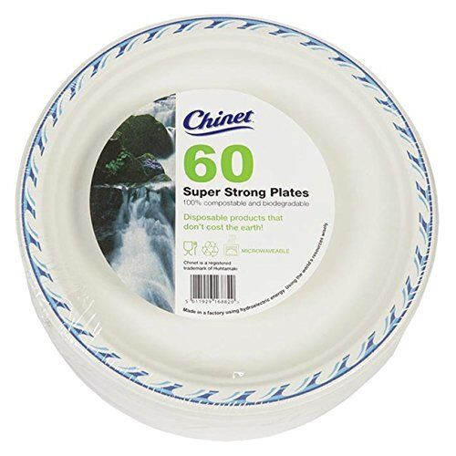Christmas party 60 Chinet 24cm Super Strong Disposable Paper Plates Wedding