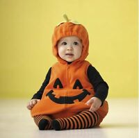 Baby Toddler Boy Girl Halloween Costume Pumpkin Fancy Dress Party Outfit 3-24M