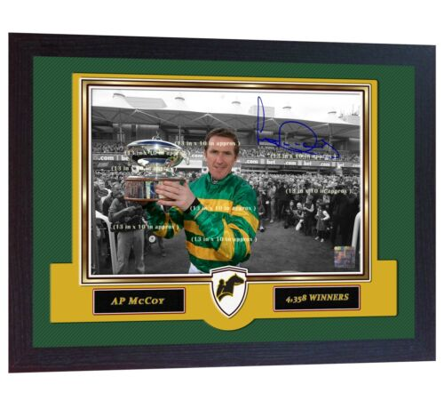 AP McCoy signed Horse Racing photo Jockey print Tony McCoy Framed