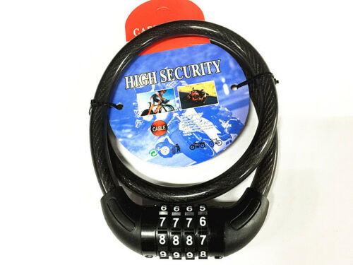New 4 Digit Combination Password Bike Bicycle Lock Steel Wire Security Cable