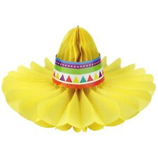 Fiesta Honeycomb Sombrero Party Decoration Centerpiece Mexican Western  Cowboy b774977a1ead