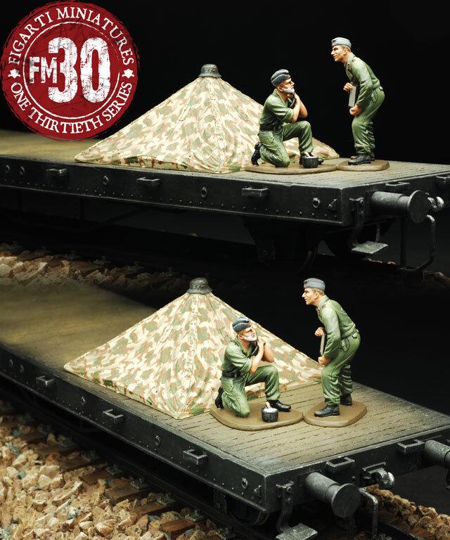 Figarti Europäisch Theater WW2 Deutsch ETG-063 Zeltbahn Zelt & 2 Figuren MIB