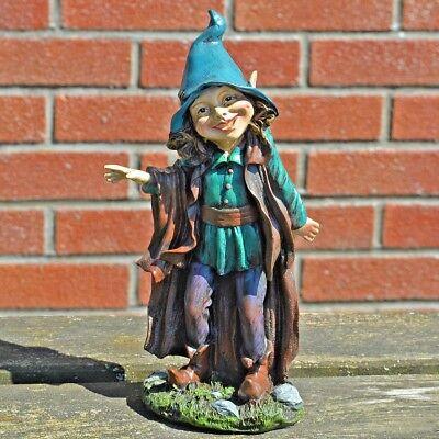 Resin Fairy Garden Statue Secret Fairy Pixie Ornament Outdoor Novelty Decor