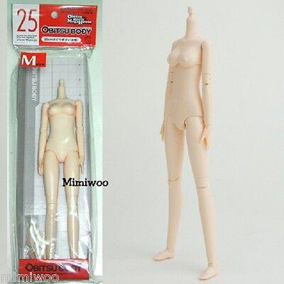 Obitsu 25cm Female Figure 1/6 dollfie Doll Body Soft Bust Medium White Skin