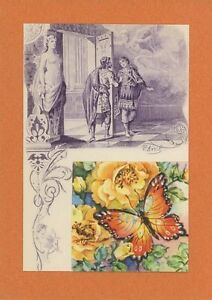 ANTIQUE-VINTAGE-ARTISTIC-NUDE-WOMAN-CUPID-BOW-BUTTERFLY-ROSES-COLLAGE-ART-PRINT