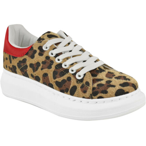 Womens Alex White Oversized Chunky Sneakers Rubber Sole Trainers New Shoes Size