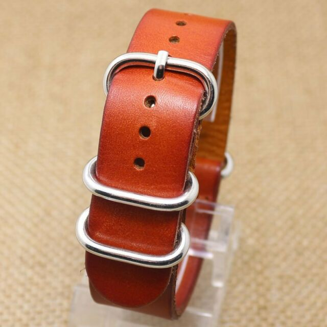 New Genuine Leather Light Brown 20mm 22mm Watch Band Replacement Strap PD0131