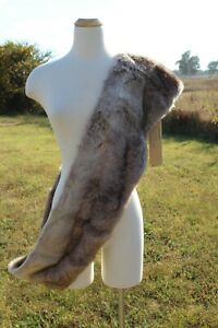 Upcountry-by-Du-Monde-Women-039-s-Infinity-Scarf-Faux-Fur-Tan-Fluffy-Soft-NWT