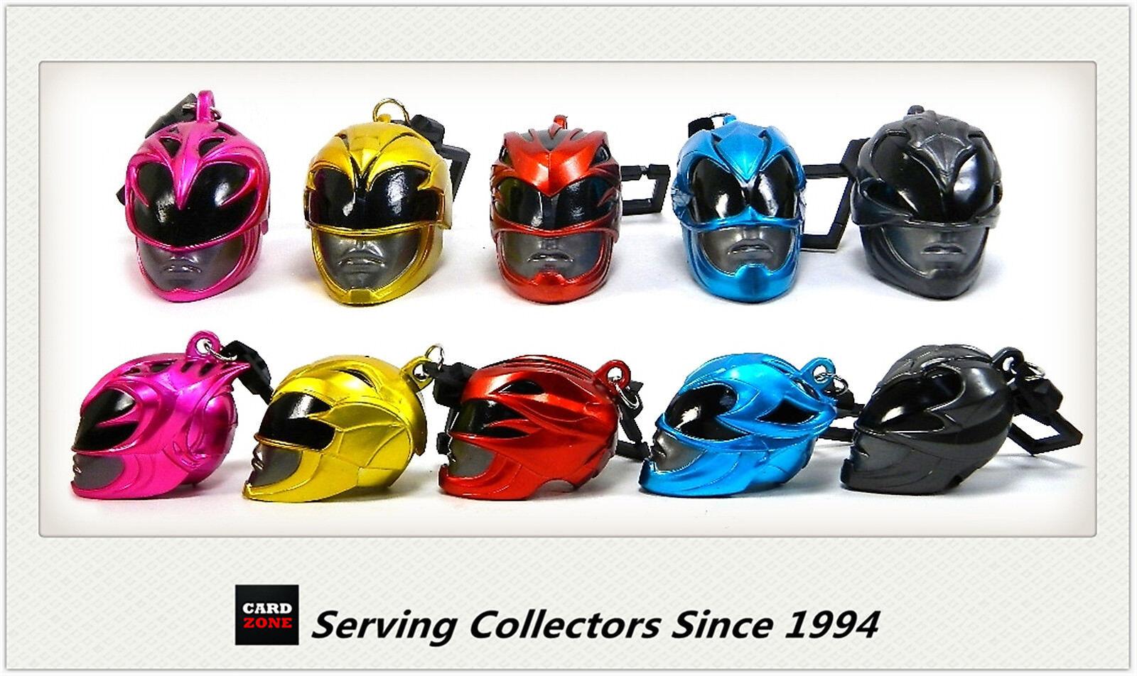 Power Rangers Movie Key Ring/chain Mini Helmet Borsa Clips Full Set  5 x2-COOL