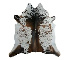 Details About New Brazilian Cowhide Rug Salt And Pepper Longhorn Chocolate Cow Hide