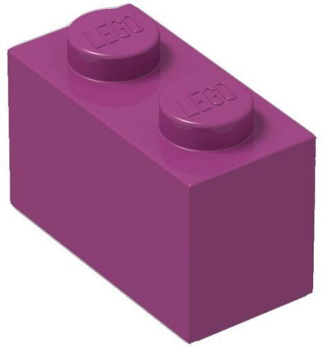 BULK Parts City Building ☀️100x NEW LEGO 1x2 Magenta Pink  Bricks ID 3004