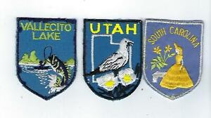 Vintage Travel Patch Utah Bird South Carolina Southern Belle Vallecito Lake