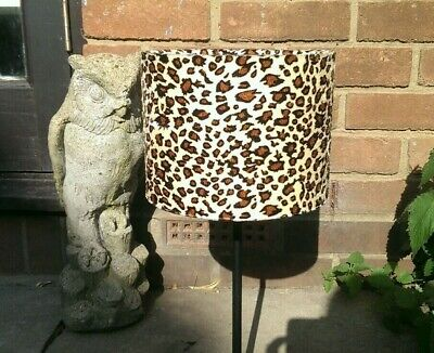 20cm w x 15cm h Caramel Baby Leopard Print Faux Fur Lampshade Ceiling Pendant