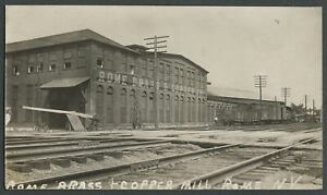 Rome-NY-c-1910-RPPC-Photo-Postcard-ROME-BRASS-amp-COPPER-MILL-Factory-Buildings