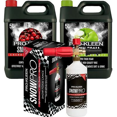 PRO KLEEN SNOW FOAM LANCE AND FOAM CAR WASH SHAMPOO WAX PRESSURE WASHER