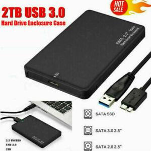 2 TB USB 3.0 Portable External Hard Drive Ultra Slim SATA Storage Device CA