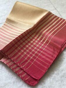 1950s-Vintage-Handkerchief-Silk-Blend-Hanky-Pink-Ombre-Cream-Retro-Fabric-Old
