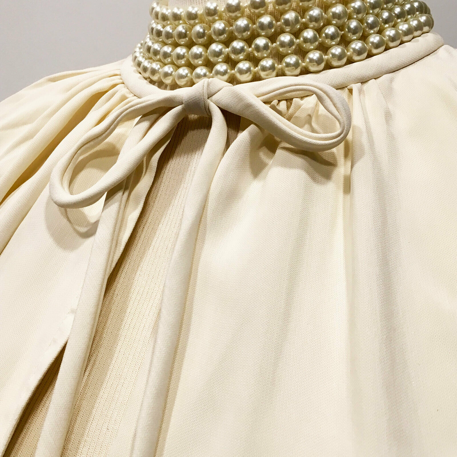 Balenciaga | $945 Ivory One-Shoulder  Pleated Dra… - image 3