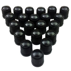 20-X-Black-Plastic-Universal-Tyre-Alloy-Wheel-Caps-Dust-Valve-Car-Bike-Cycle