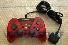 GAMETECH, BATTLE PAD TURBO 2, CLEAR RED, PLAYSTATION, PS2, PSONE, CONTROLLER,PSX