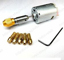0.5-3mm Small Electric Drill Bit Collet Micro Twist Drill Chuck Set with MOTOR